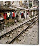 Old Hanoi By The Tracks Canvas Print