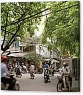 Old Hanoi Life Canvas Print
