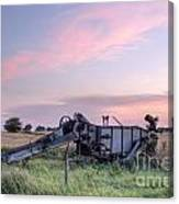 Old Harvester Sunset Canvas Print