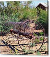 Old Hay Rake Canvas Print