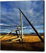 Old Homestead Near Pelly Crossing Canvas Print