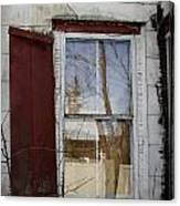 Old House Red Shutter 1 Canvas Print