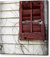 Old House Red Shutter 3 Canvas Print