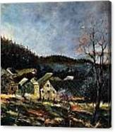 Old Houses In Mogimont Canvas Print