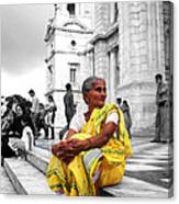 Old Indian Woman Canvas Print