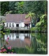 Old Lake With An Old Hut Canvas Print