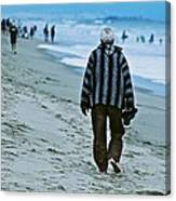 Old Man And The Beach Canvas Print