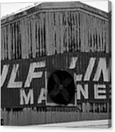 Old Marine Sign Canvas Print