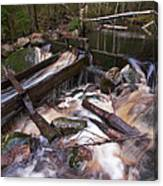 Old Mill Canal Canvas Print