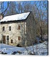 Old Mill On Winters Road Canvas Print