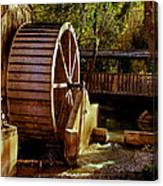 Old Mill Park Wheel Canvas Print