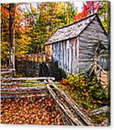 old mill Smoky Mountains Canvas Print
