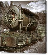 Old Mine Train Banff Canvas Print