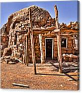 Old Navajo Stone House Canvas Print