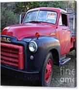 Old Nostalgic American Gmc Flatbed Truck . 7d9821 Canvas Print