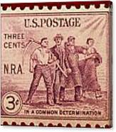 Old Nra Postage Stamp Canvas Print