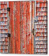 Old Orange Door  Canvas Print