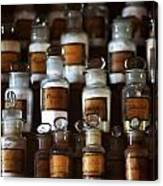 old pharmacy 2 - Old glass bottle with medicine powder of xviii century Canvas Print