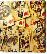Old Playing Cards Canvas Print