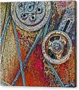 Old Pulleys Canvas Print
