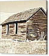 Old Ranch Hand Cabin L Canvas Print