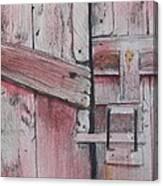 Old Red Barn Door Canvas Print