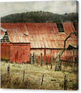 Old Red Barn Canvas Print