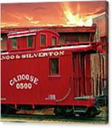 Old Red Caboose 500 Canvas Print