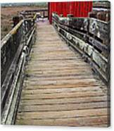 Old Red Shack At The End Of The Walkway Canvas Print