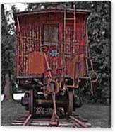 Old Red Train Canvas Print