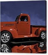 Old Red Truck Canvas Print