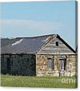 old rock house in ND. Canvas Print