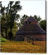 Old Round Barn Canvas Print