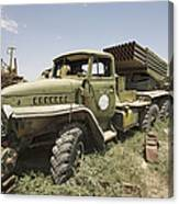 Old Russian Bm-21 Launch Vehicle Canvas Print