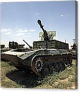 Old Russian Bmp-1 Infantry Fighting Canvas Print