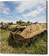 Old Russian Btr-60 Armored Personnel Canvas Print