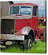 Old Rusted Semi-truck  Canvas Print
