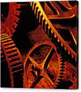 Old Rusty Gears Canvas Print