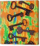 Old Rusty Keys Canvas Print