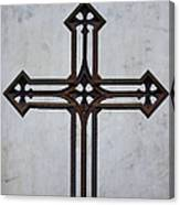 Old Rusty Vintage Cross Canvas Print