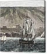 Old Sail Ships Galapagos Island Isabela Canvas Print