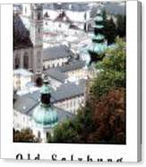 Old Salzburg Poster Canvas Print
