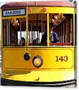 Old San Jose Railroads Cablecar Trolley 143 . San Jose California . 7d12963 Canvas Print
