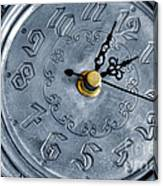 Old Silver Clock Canvas Print