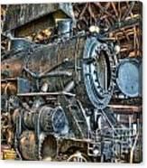 Old Steam Locomotive Canvas Print