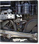 Old Steam Locomotive Engine 1258 . Wheels . 7d13000 Canvas Print