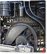 Old Steam Locomotive Engine 1258 . Wheels . 7d13001 Canvas Print