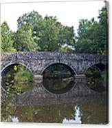 Old Sumneytown Pike Bridge Over The Perkiomen Creek Canvas Print