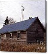 Old Time Barn From Days Gone By Canvas Print