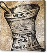 Old Time Medicine Ad Canvas Print